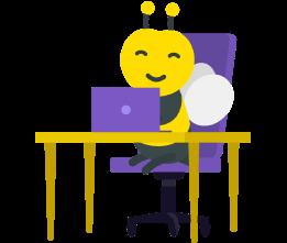 illustration abeille ordinateur
