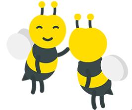 illustration deux abeilles